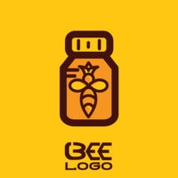 bee logo bee icon