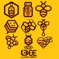 bee logo icon pack