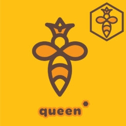 bee logo queen icon design