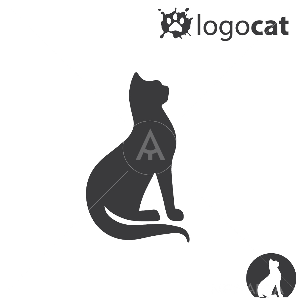 Cat design logo icon and symbols