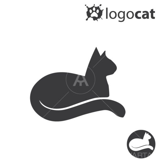 cat graphic design icon vector