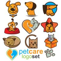 PET CARE LOGO SET