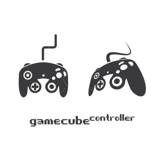 gamecube gaming controller graphic design icon vector