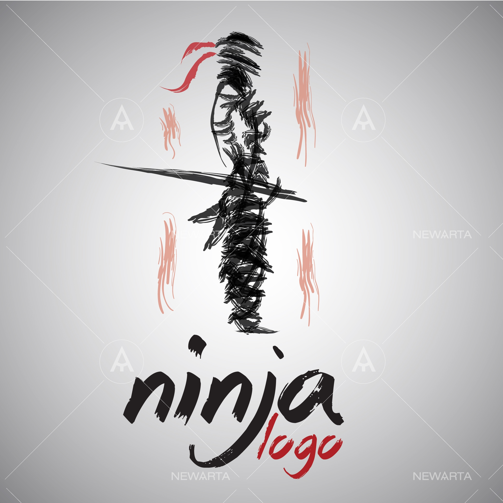 Ninja logo concept design and symbols newarta one of the most popular fight figures of all times is the ninja with a vast history ninjas managed to become special legendary characters that carry a biocorpaavc Image collections