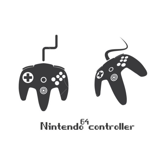 nintendo 64 gaming controller graphic design icon vector