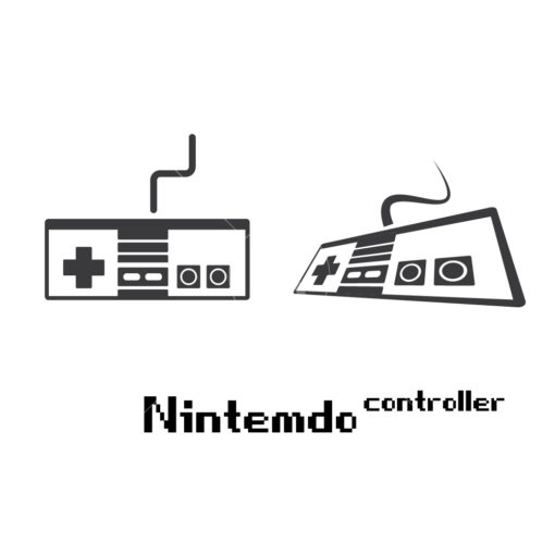 nintendo gaming controller graphic design icon vector