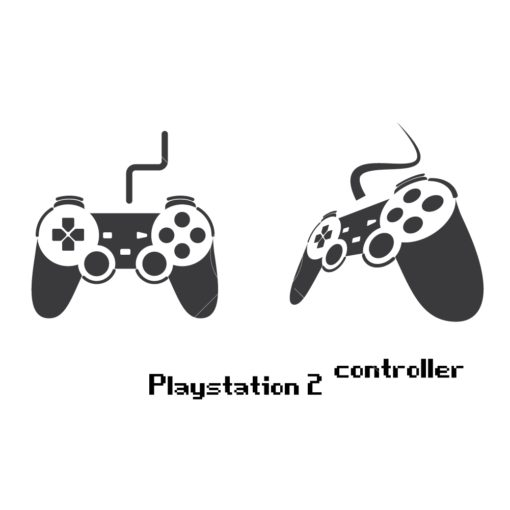 playstation 2 gaming controller graphic design icon vector