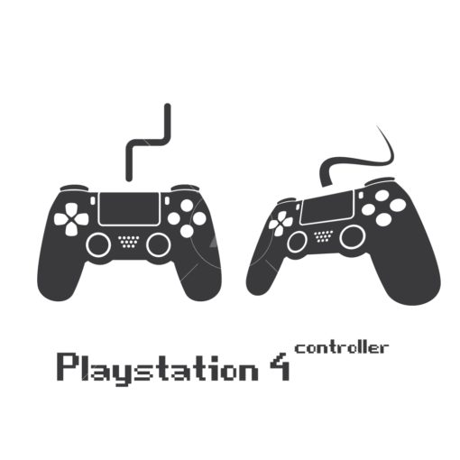 playstation 4 gaming controller graphic design icon vector