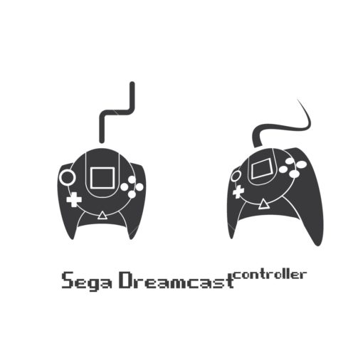 sega dreamcast gaming controller graphic design icon vector