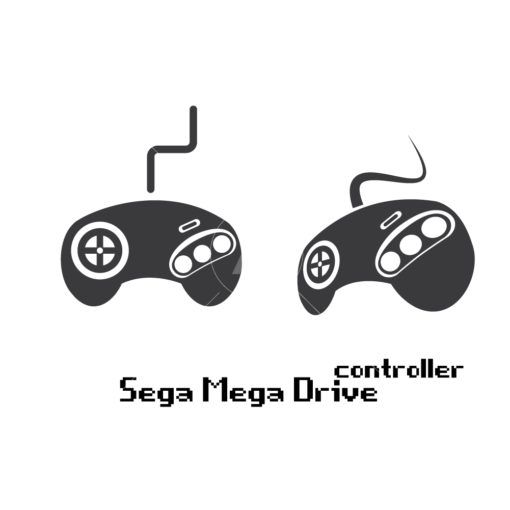 sega mega drive gaming controller graphic design icon vector