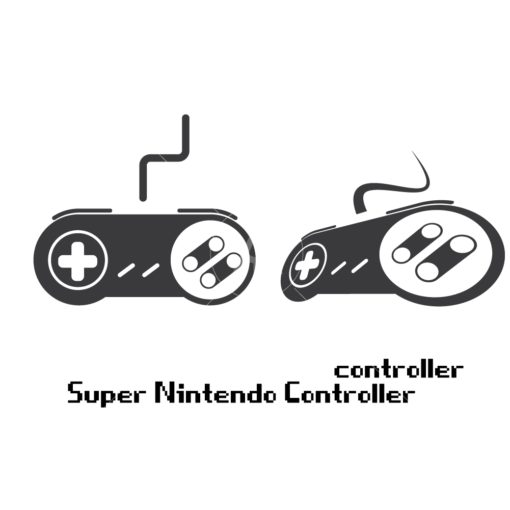 super nintendo gaming controller graphic design icon vector