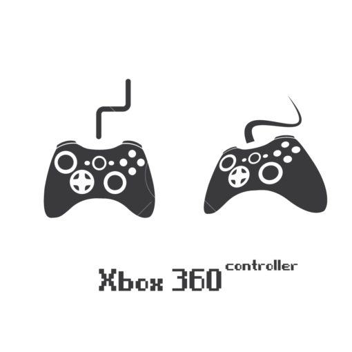 xbox 360 gaming controller graphic design icon vector