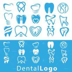 dental set logo icon vector