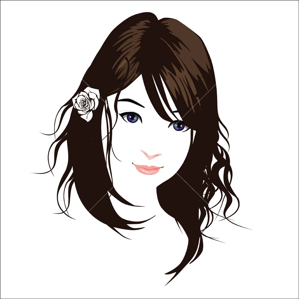 Beautiful Face Vector 5 Newarta