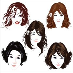 beautiful face logo icon