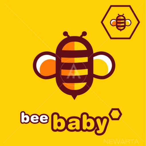 bee BABY logo vector icon