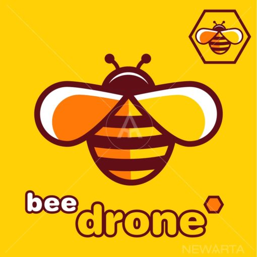 bee DRONE logo vector icon