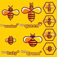 bee logo set