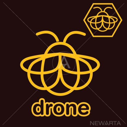 drone bee logo