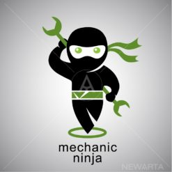 mechanic ninja logo
