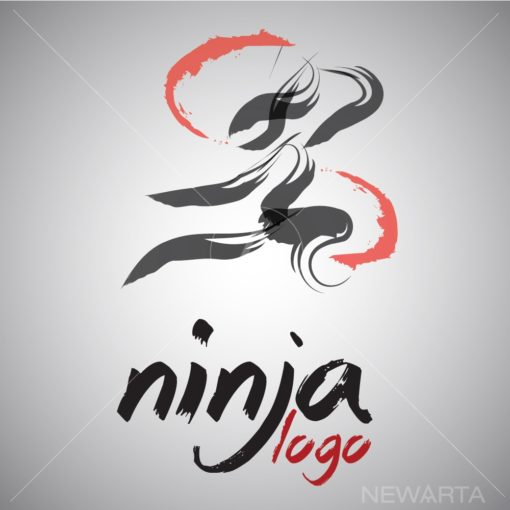 ninja logo icon vector