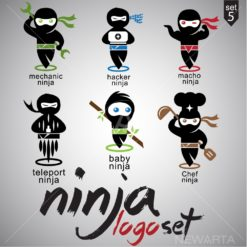 ninja logo set