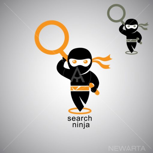 search ninja logo icon vector
