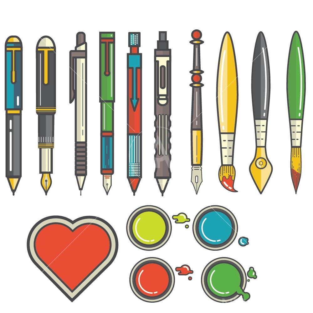 art tools graphic design icon vector