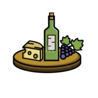 wine bottle arrangement icon