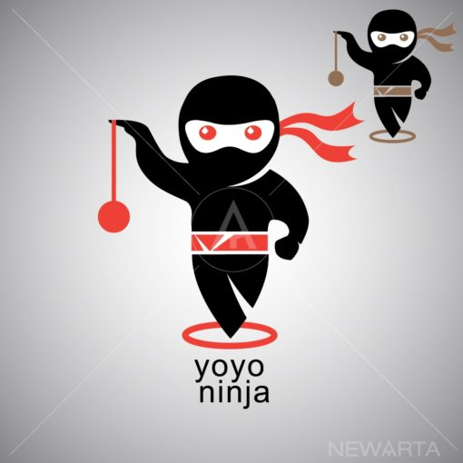 yoyo ninja logo icon vector