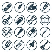 scribe icon set