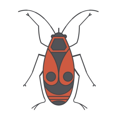japanese red bug logo graphic design icon vector