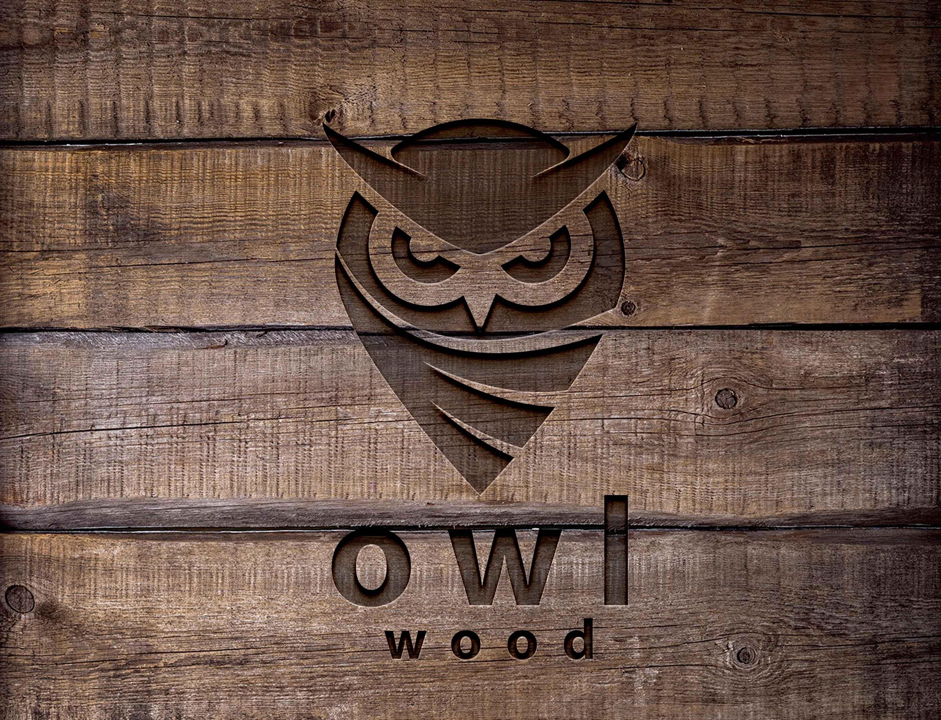 wood engraved logo mock up newarta
