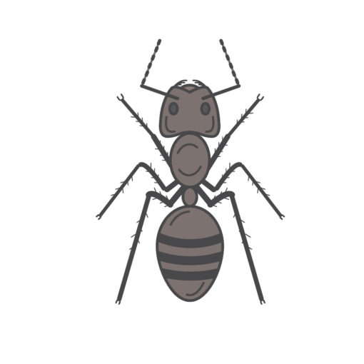 ant logo graphic design icon vector