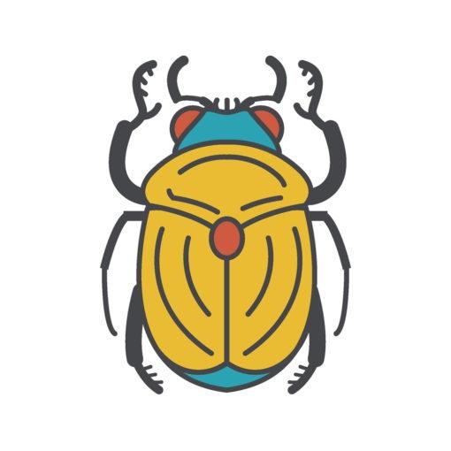 golden scarab logo graphic design icon vector