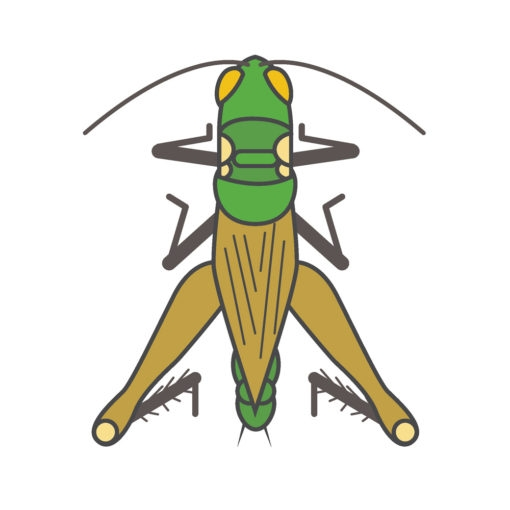grasshopper logo graphic design icon vector