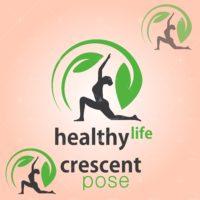 healthy life crescent pose