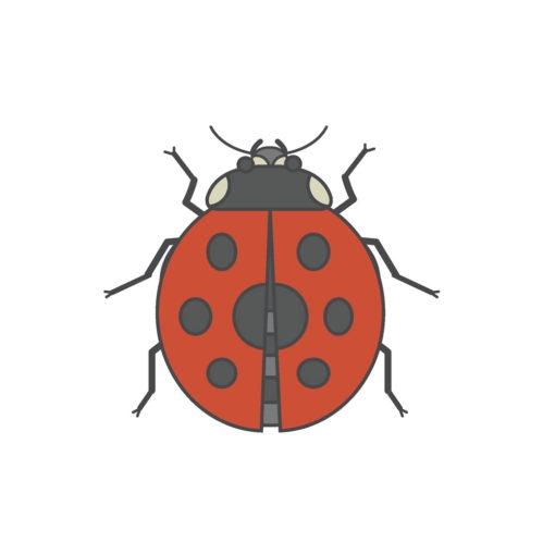 ladybug logo graphic design icon vector