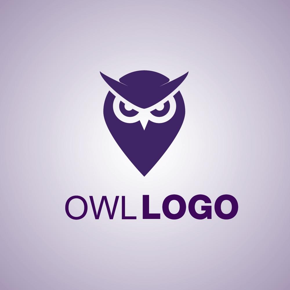 owl logo mark symbol icon free
