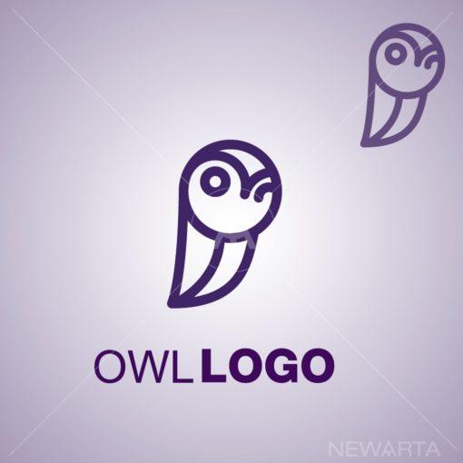 owl logo icon vector