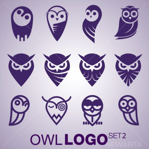 owl logo mark icon brand