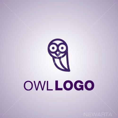 owl logo icon mark symbol otline design