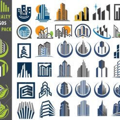 realty logo graphic design icon vector