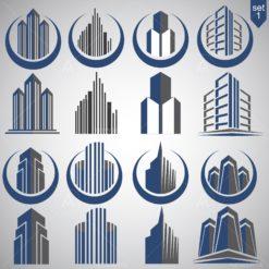 realty logo graphic design icon vector