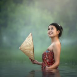 Indonesian beauty in the water free photography