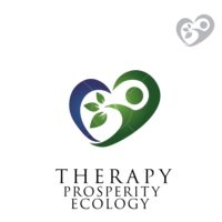 therapy prosperity ecology symbol logo design