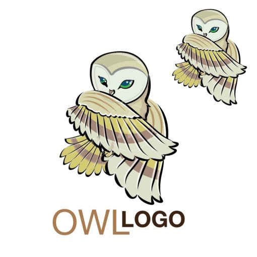 OWL LOGO graphic design icon vector