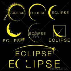 Eclipse design Set logo icon vector