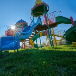 playground on a sunny day