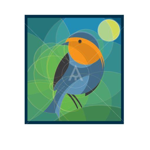 bird design using golden ratio